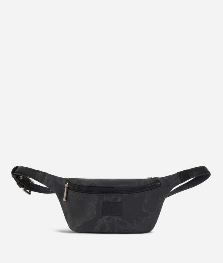 Geo Black Belt Bag,front