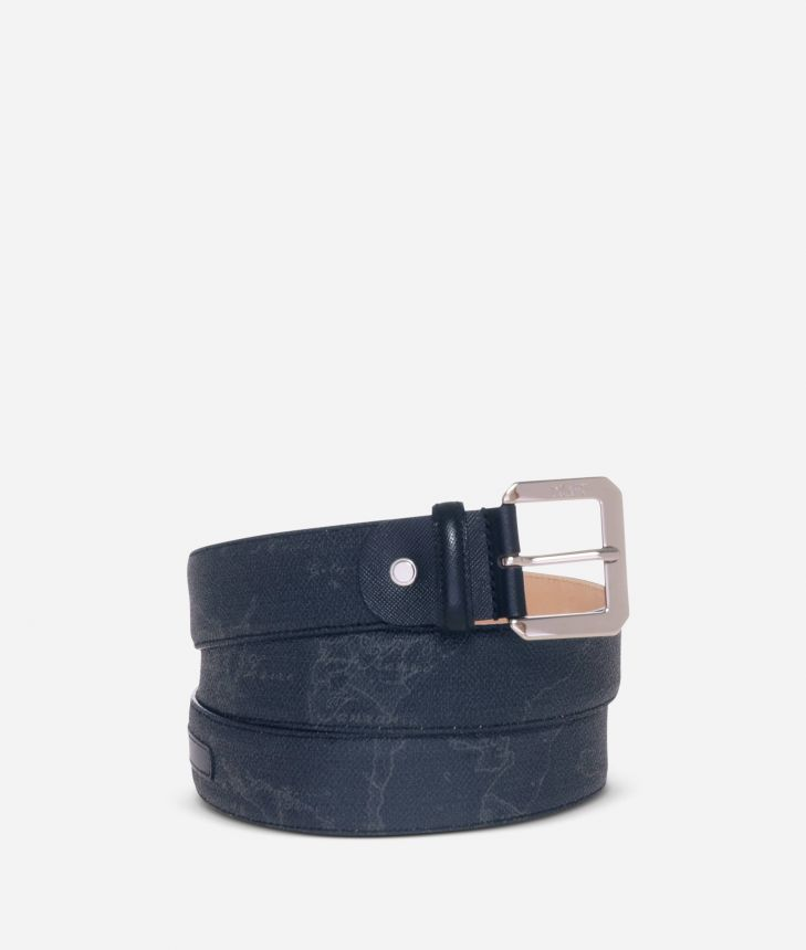 Geo Black Belt with metal buckle,front