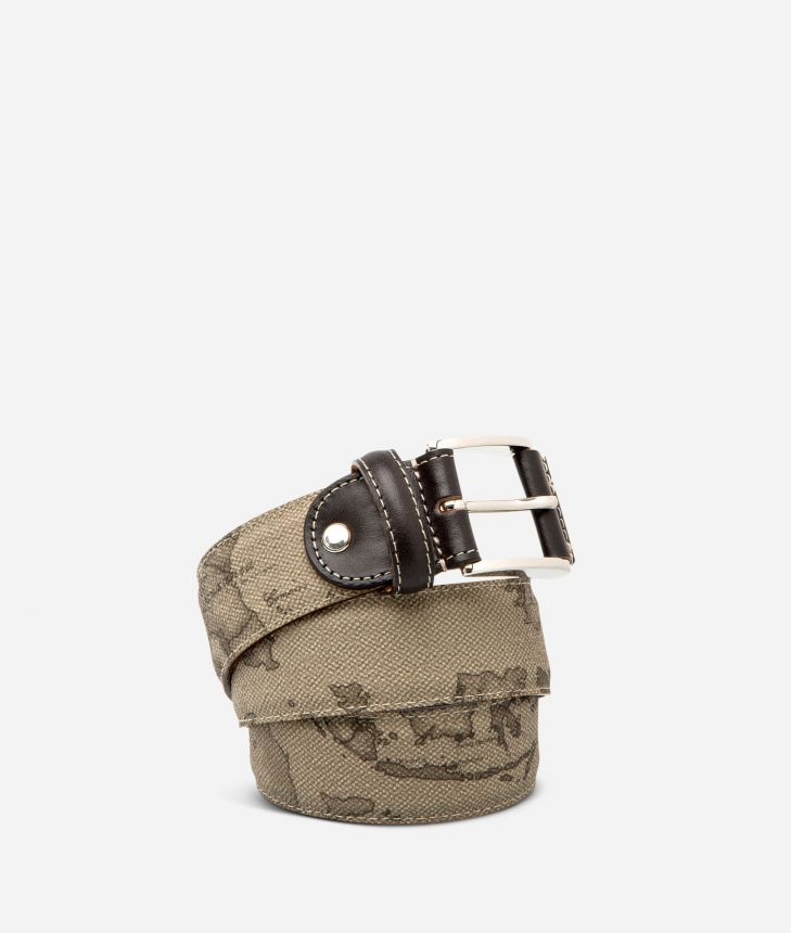 Geo Tortora Belt with logo buckle,front