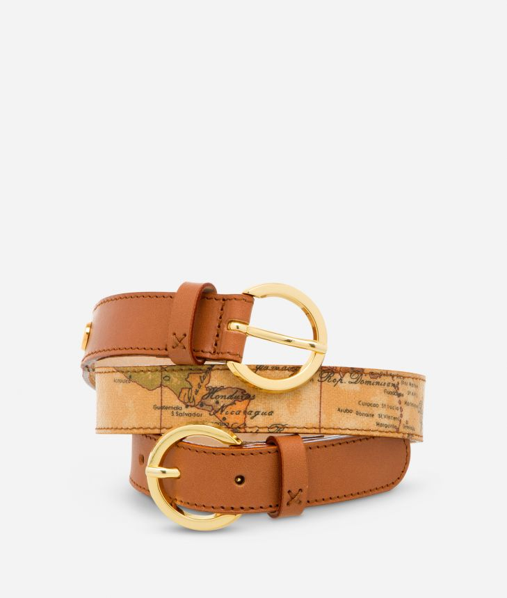 Geo Classic Belt with double buckle,front