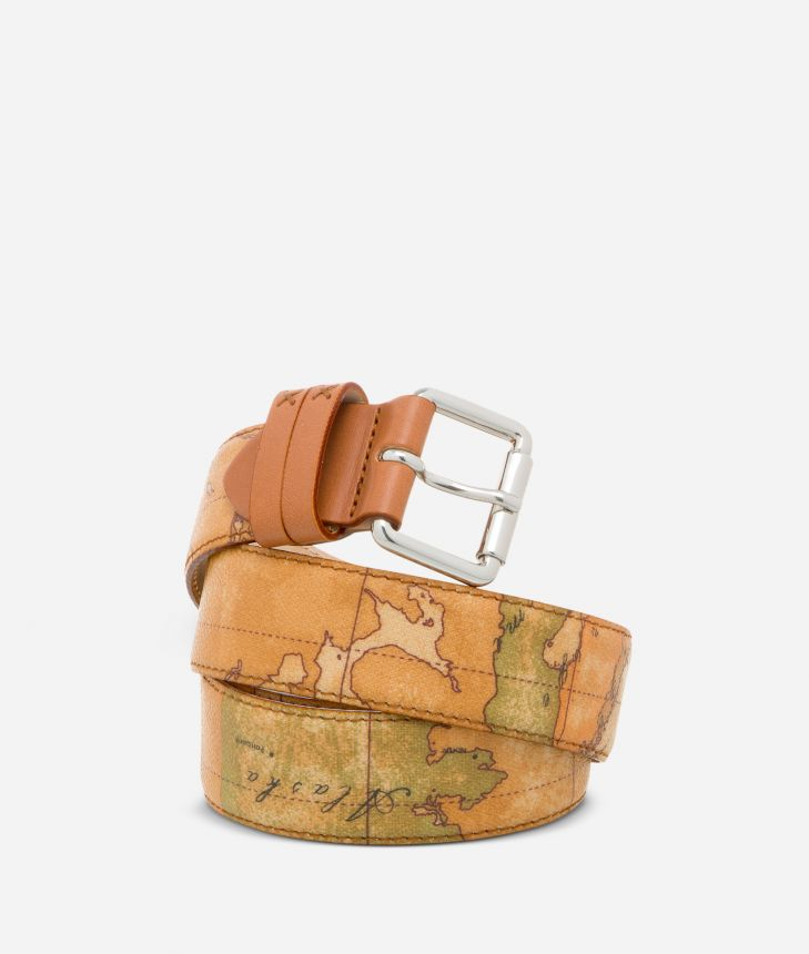 Geo Classic Belt with logo buckle,front