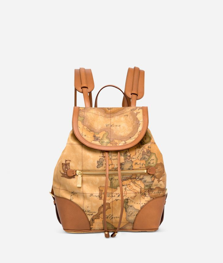 Geo Classic Backpack with leather corners,front