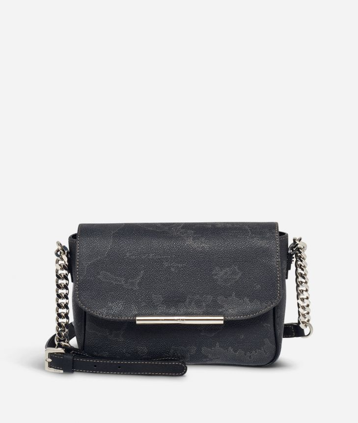 Geo Black Mini crossbody bag,front