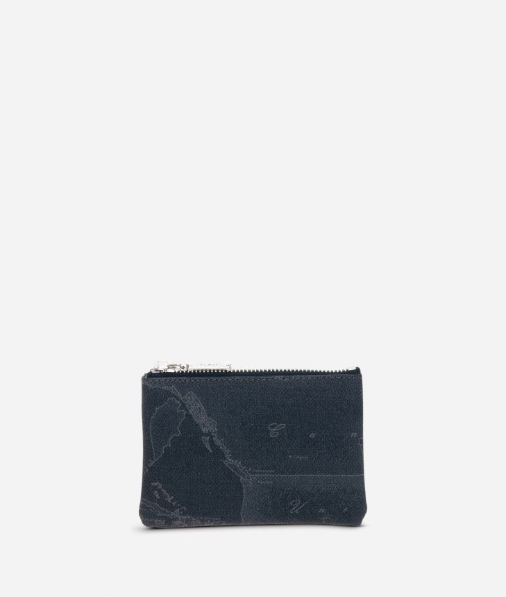 Geo Black Rectangular pouch,front