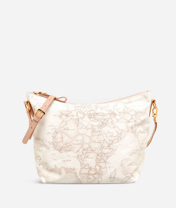 Geo Soft White Borsa media a tracolla,front