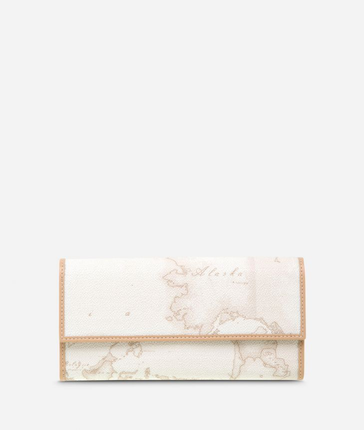 Geo White Medium wallet,front