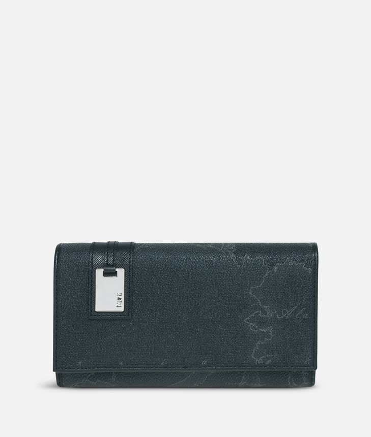 Geo Black Large wallet,front