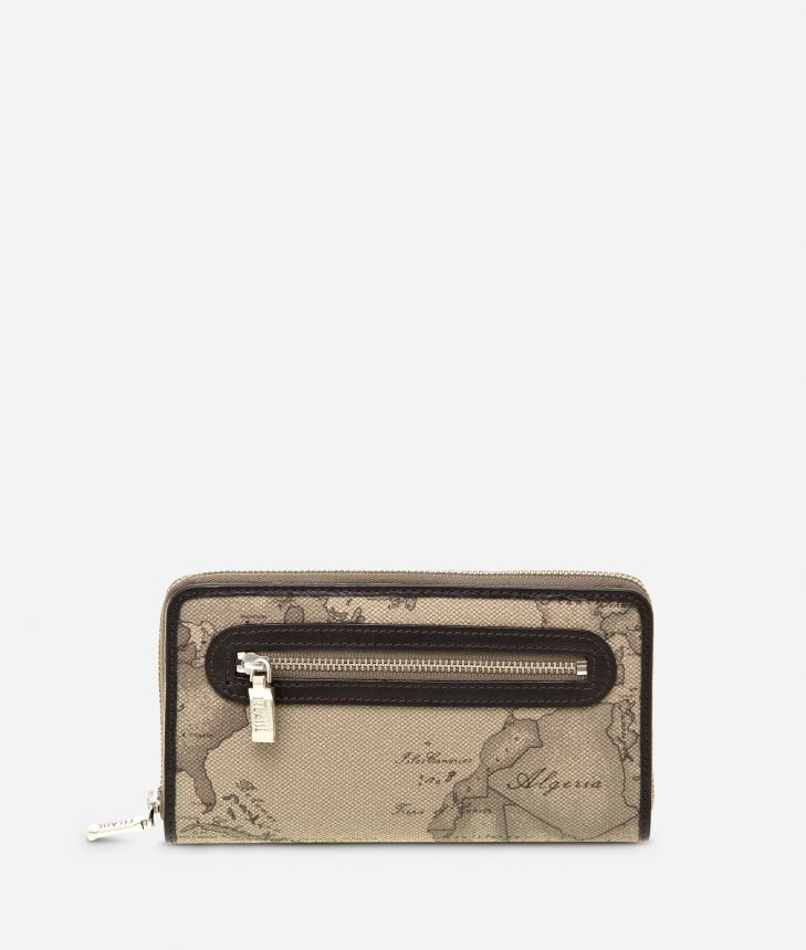 Geo Tortora Large zipped wallet,front