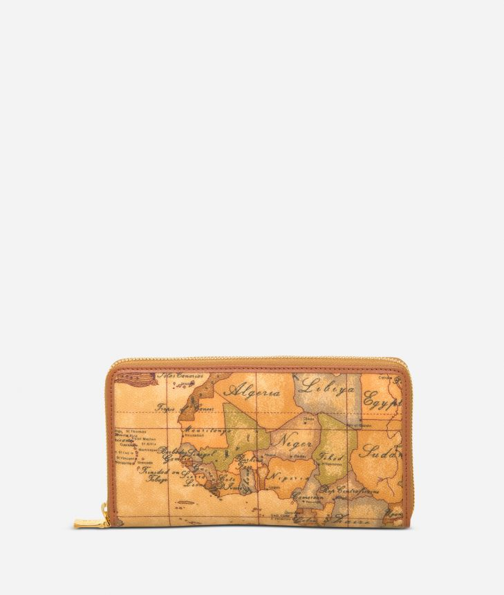 Geo Classic Zipped wallet,front