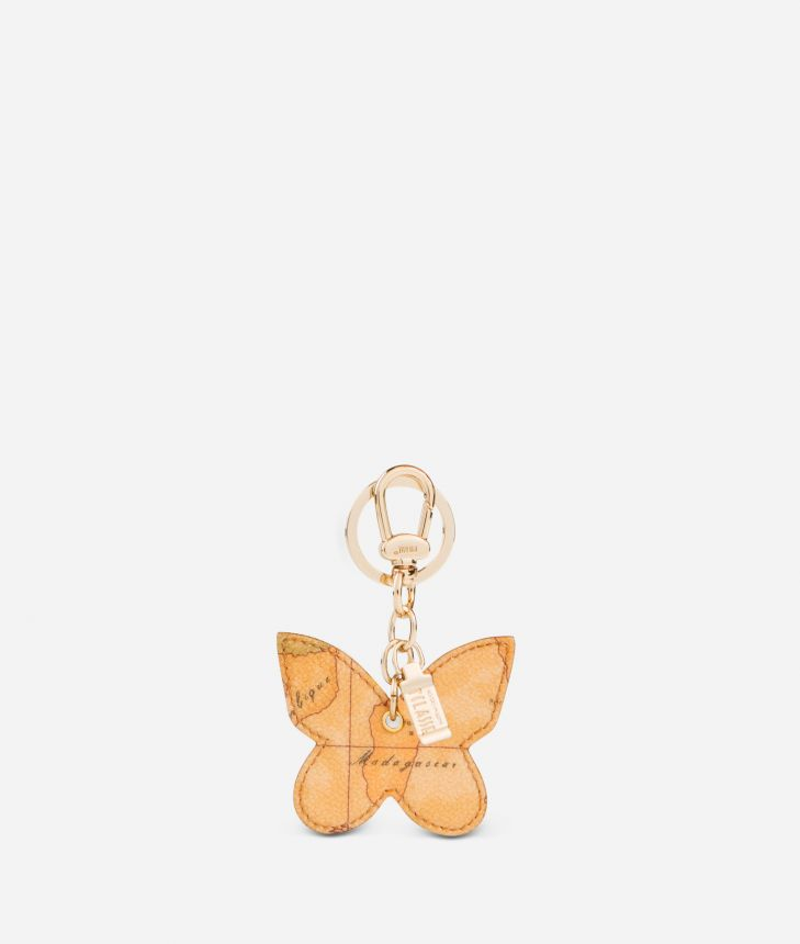 Geo Classic Butterfly shaped key ring,front