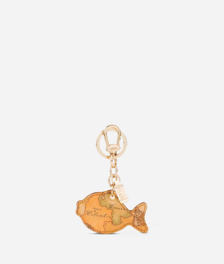 Geo Classic Fish shaped key ring,front