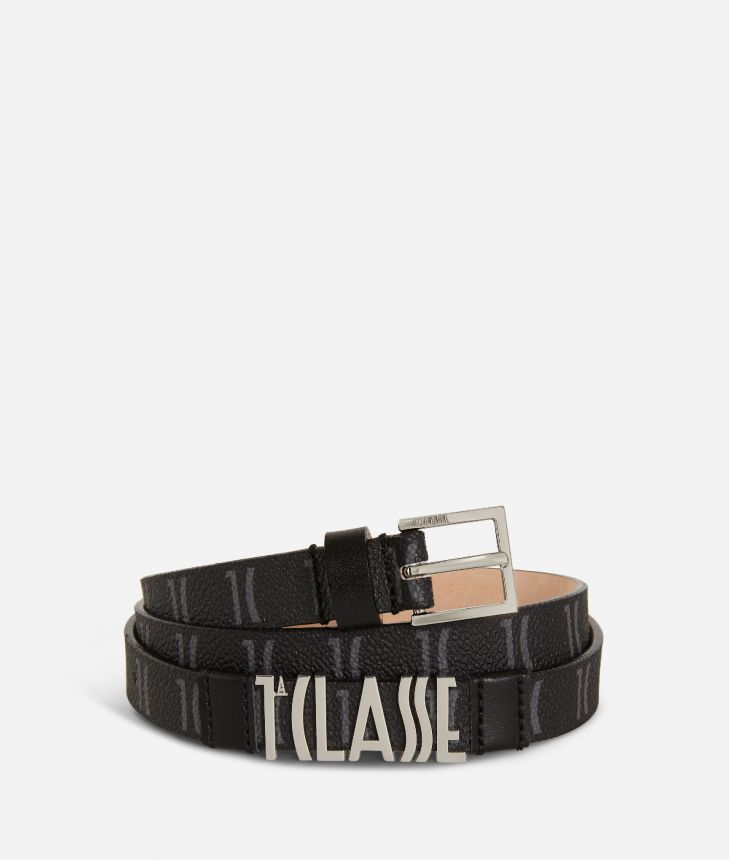 Monogram Woman Belt Black,front