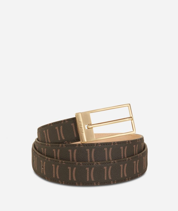 Monogram Woman Belt Dark Buff,front