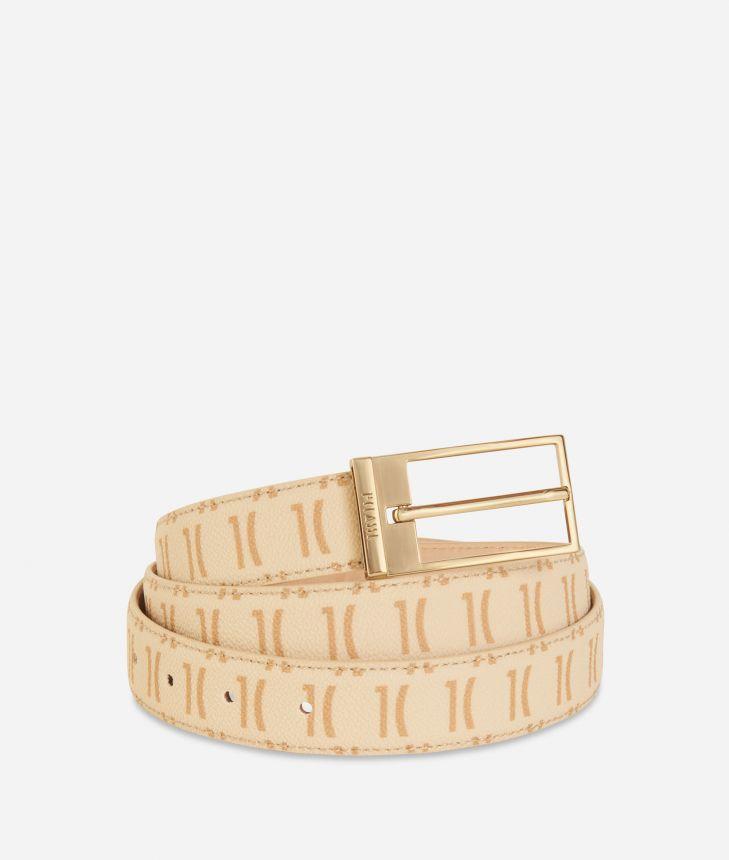 Monogram Woman Belt Cream,front