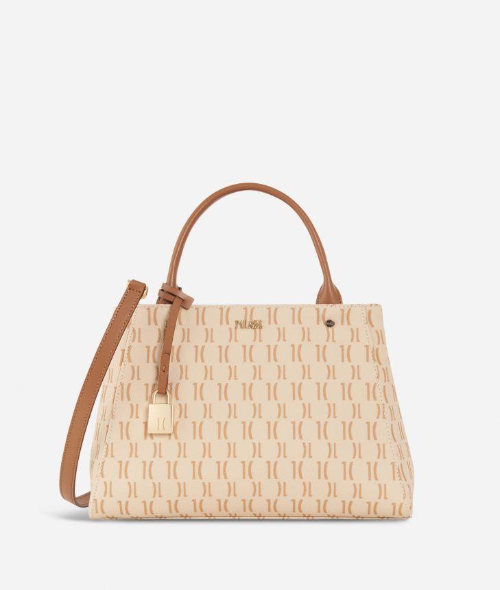 Monogram Small Handbag Cream,front