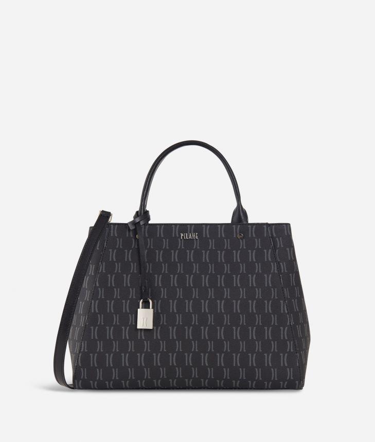 Monogram Medium Handbag Black,front