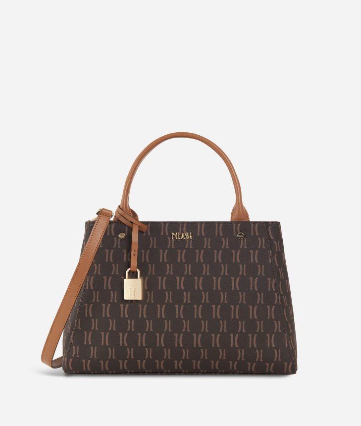 Monogram Medium Handbag Dark Buff,front