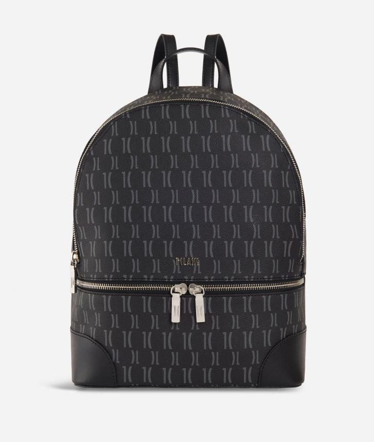 Monogram Big Backpack Black,front