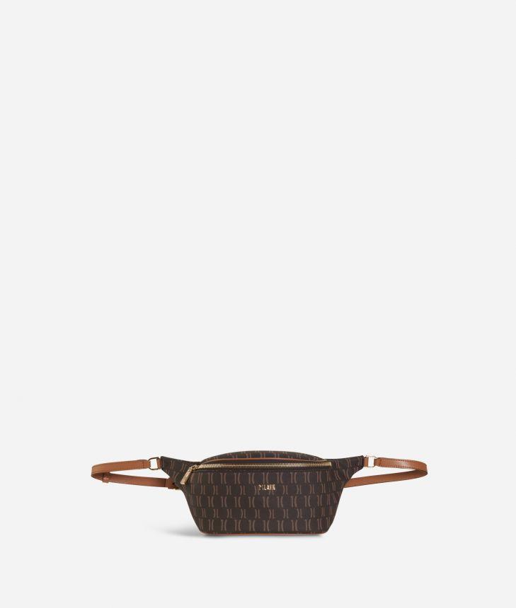 Monogram Belt Bag Dark Buff,front