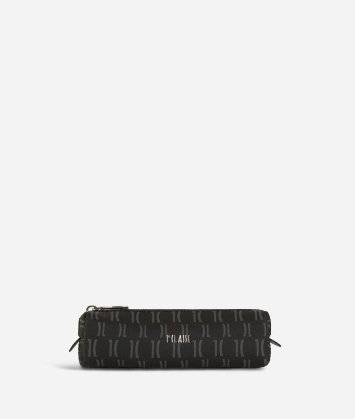 Monogram Pencil Case Black,front