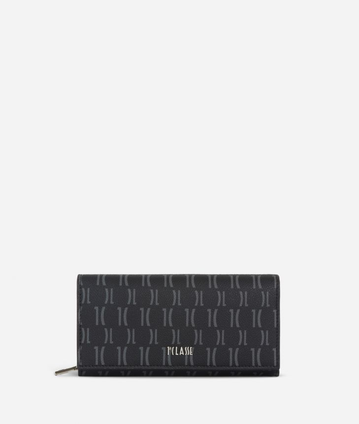 Monogram Woman Wallet Black,front