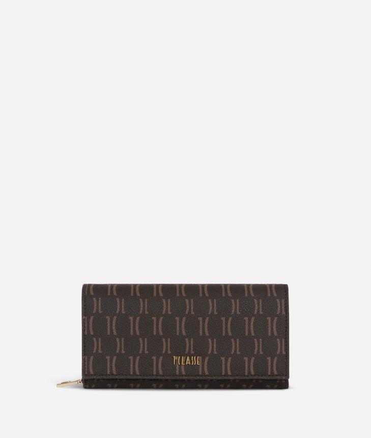 Monogram Woman Wallet Dark Buff,front