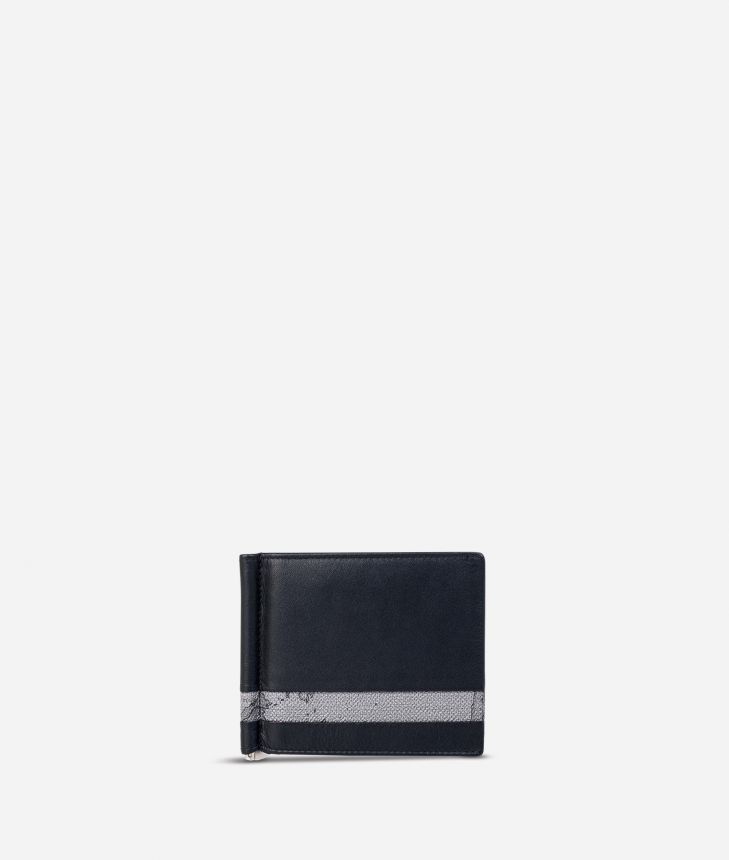 Billfold wallet Geo Dark fabric trims,front