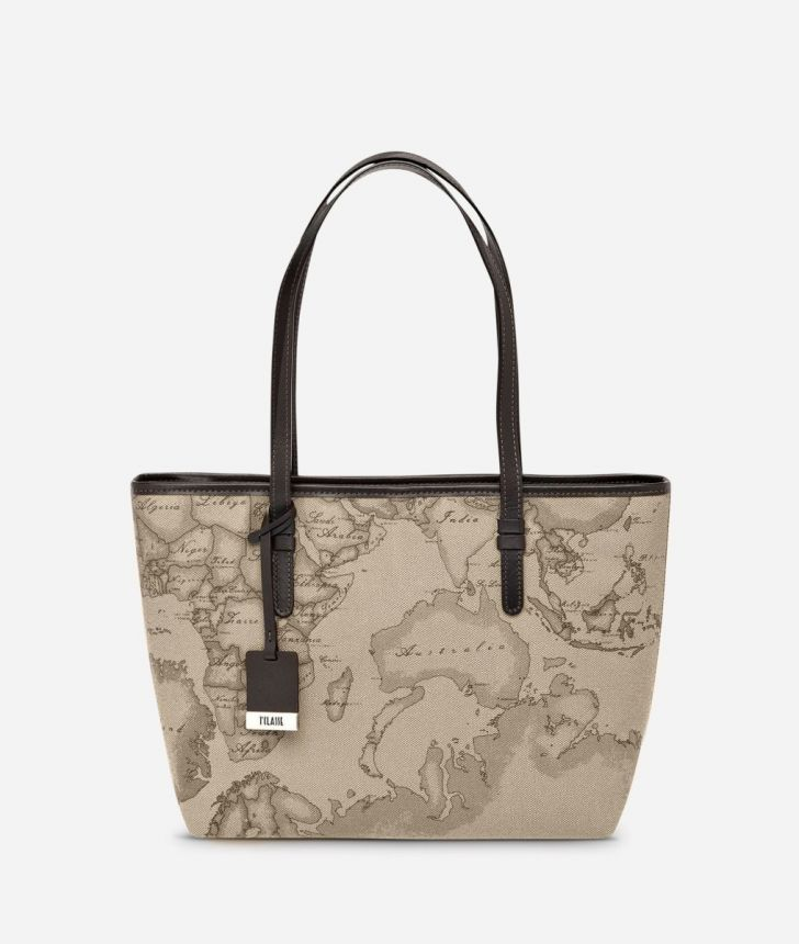 Geo Tortora Medium shopping bag,front