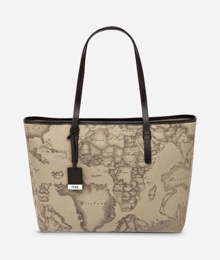 Geo Tortora Large shopping bag,front