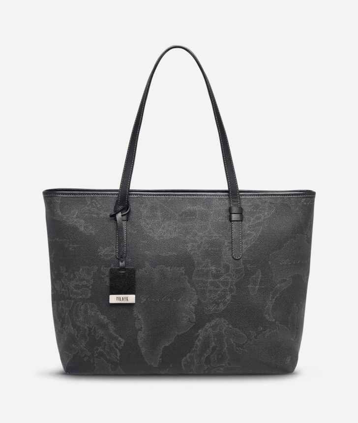 Geo Black Large Geo Dark shopping bag,front