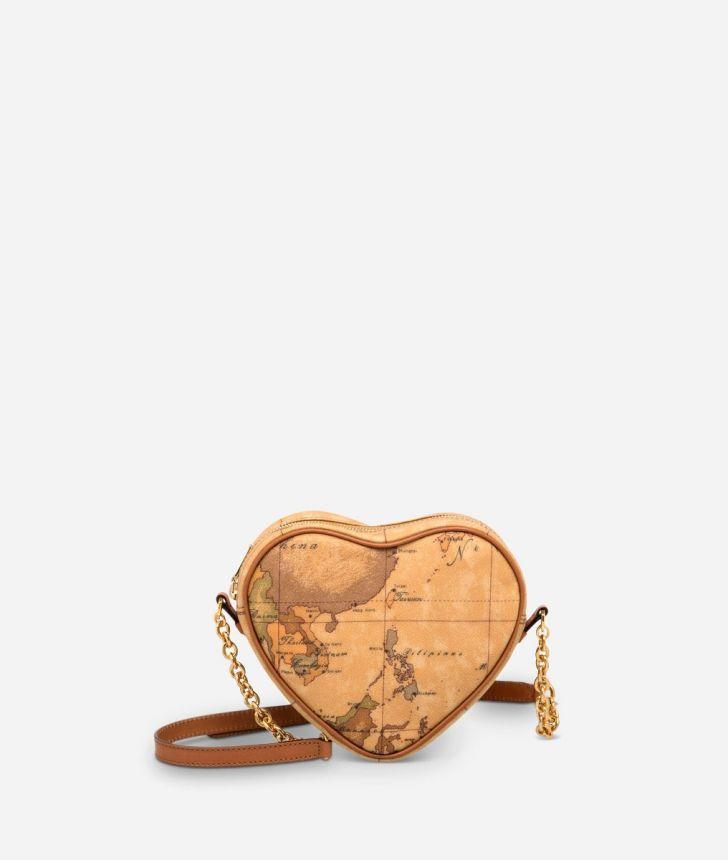 Geo Classic  Heart mini crossbody bag,front