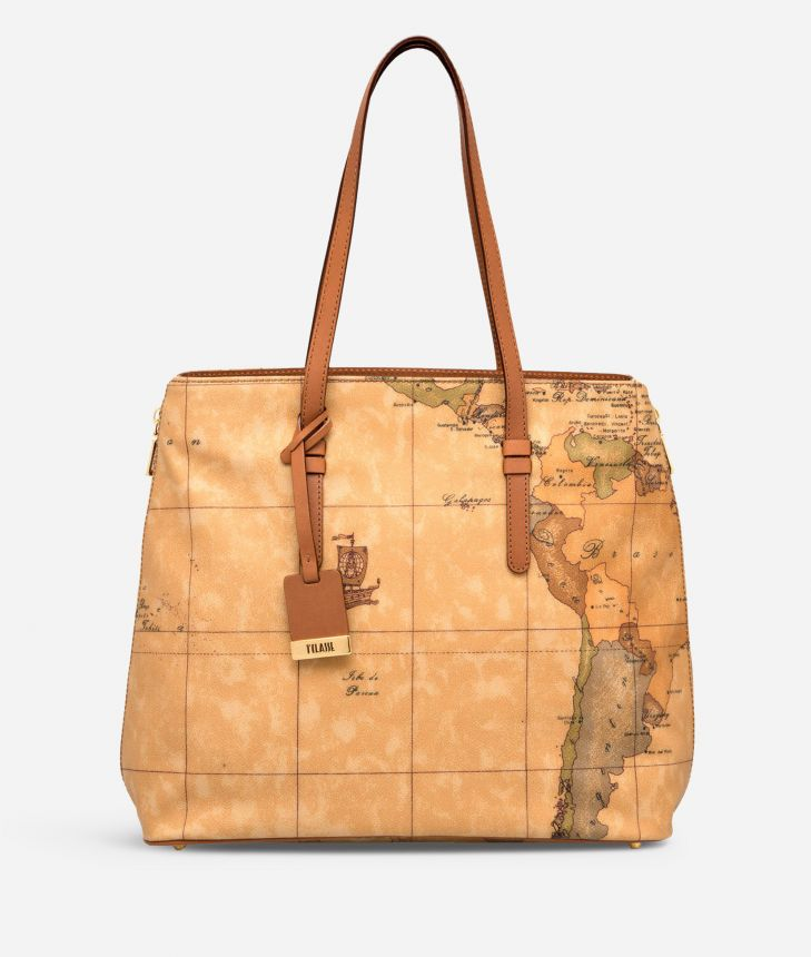 Geo Classic Large shopping bag,front