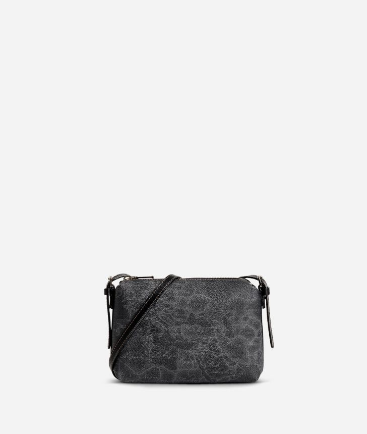 Geo Black Mini crossbody bag,front