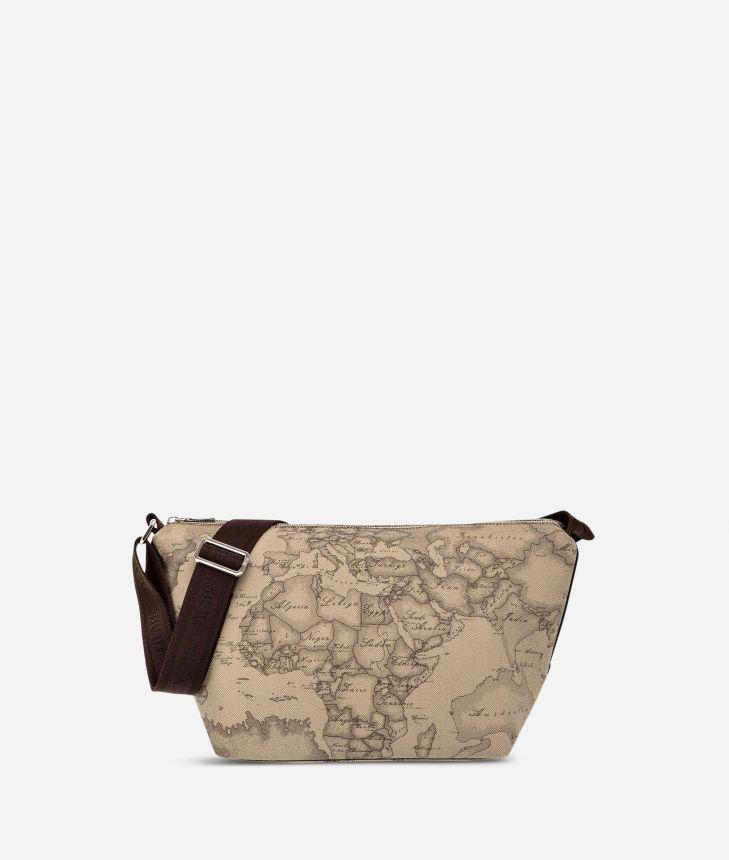 Geo Tortora Large crossbody bag,front