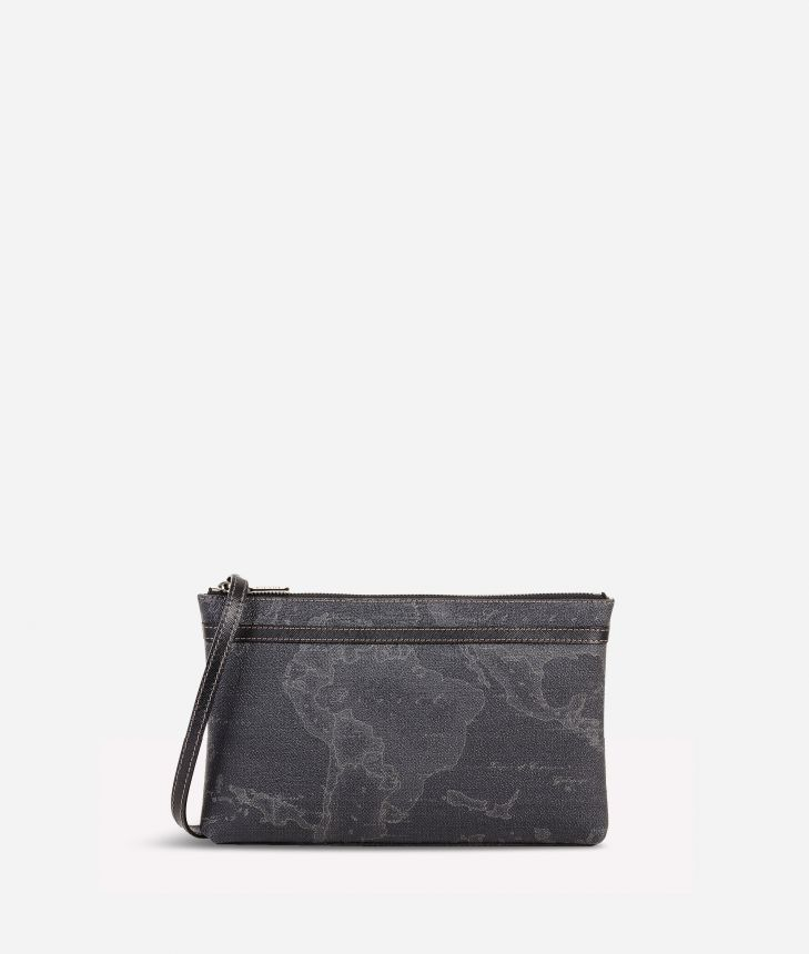 Geo Black Medium crossbody bag,front