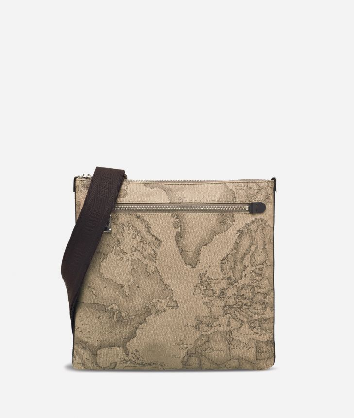 Geo Tortora Large crossbody bag,front