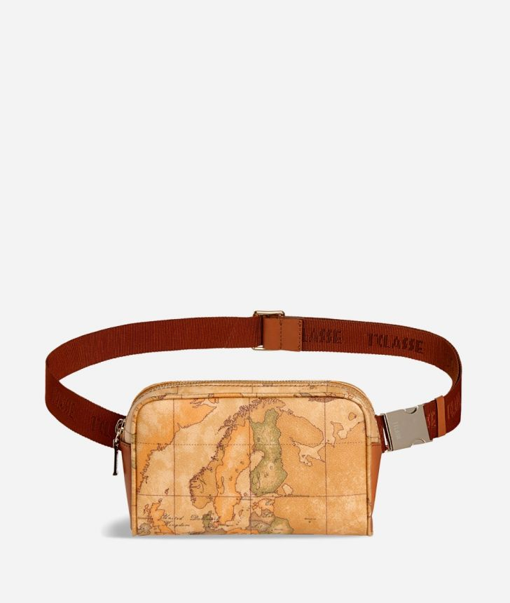 Geo Classic Belt bag with fabric strap,front