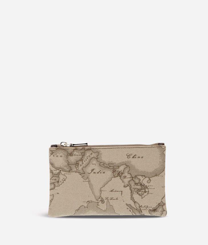 Geo Tortora Medium rectangular pouch,front