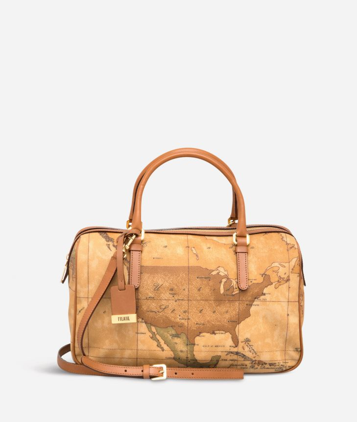 Geo Classic Large Boston bag,front