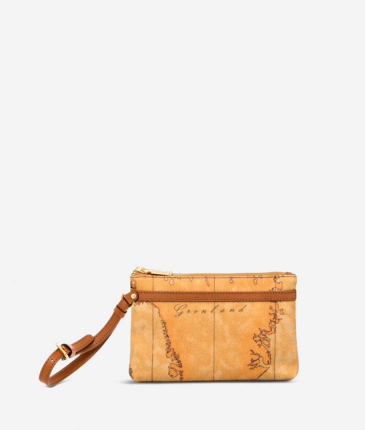 Geo Classic Small wristlet clutch,front