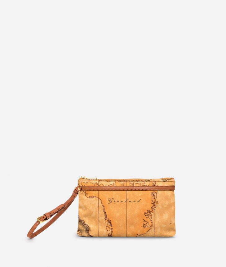 Geo Classic Medium wristlet clutch,front