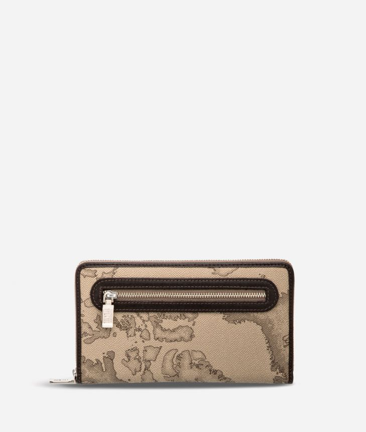 Geo Tortora Large wallet with zip pocket,front