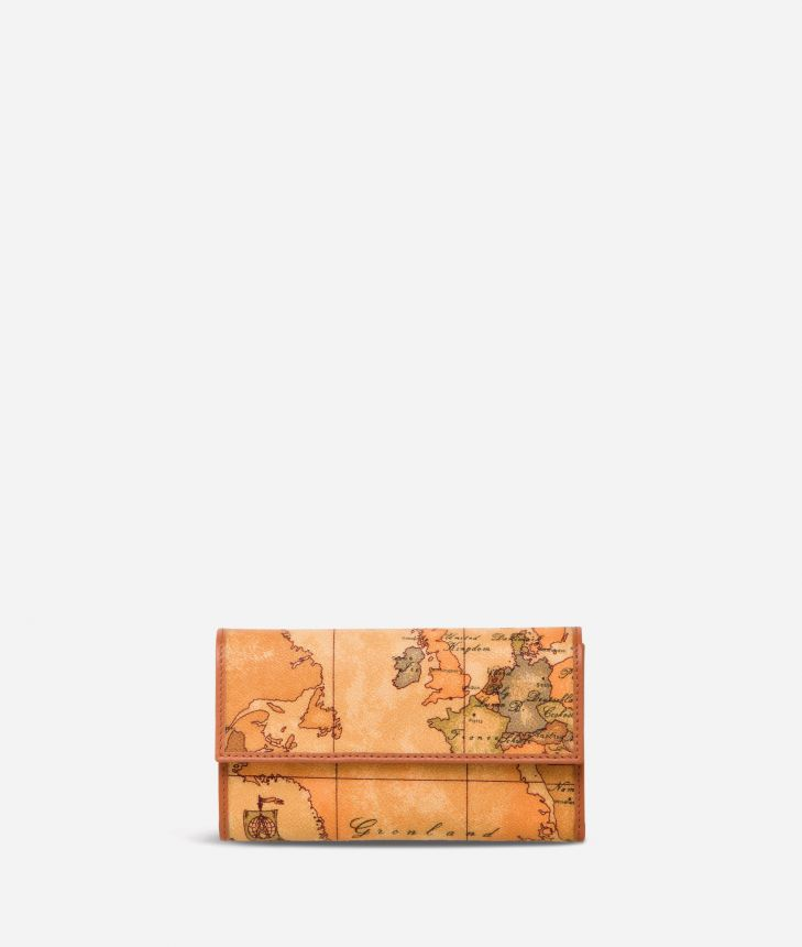 Geo Classic Large wallet with button,front