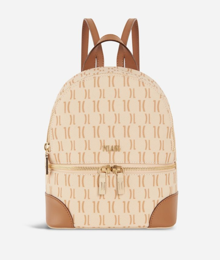Monogram Medium Backpack Cream,front