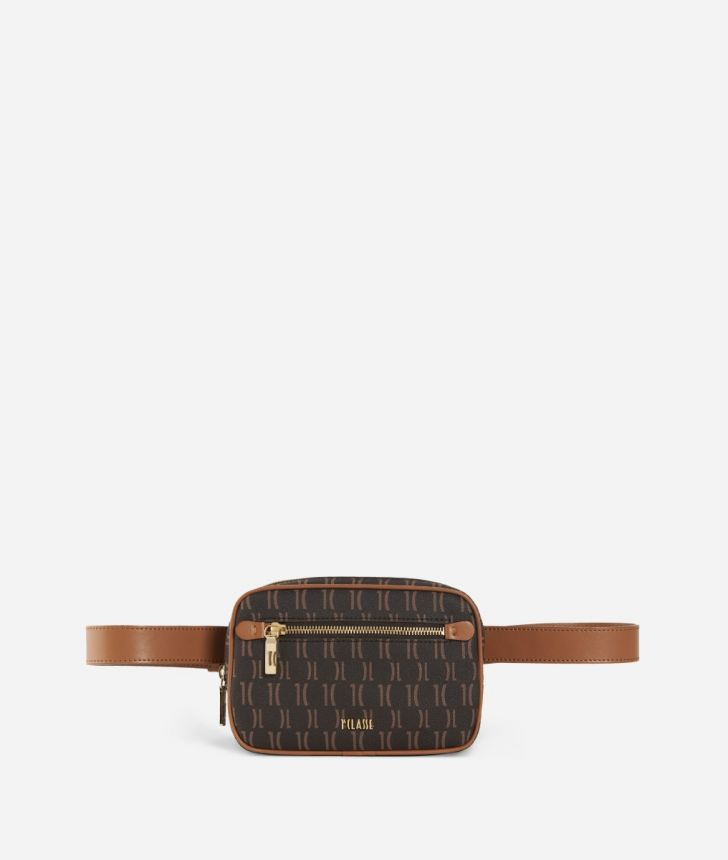 Monogram Belt Bag Marrone,front