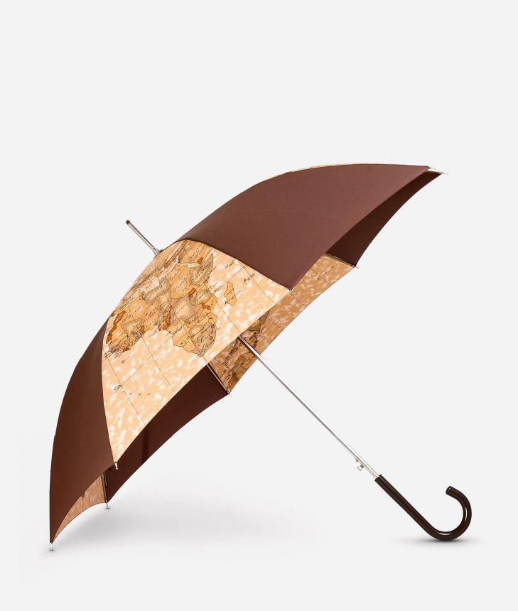 Automatic umbrella in bicolour Geo Classic fabric,front