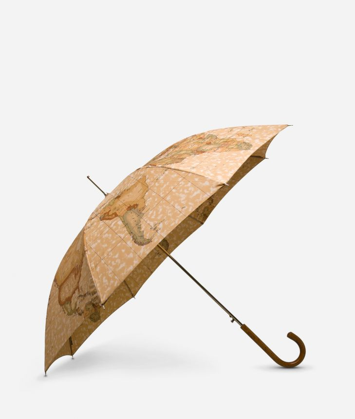 Automatic umbrella in printed Geo Classic fabric,front
