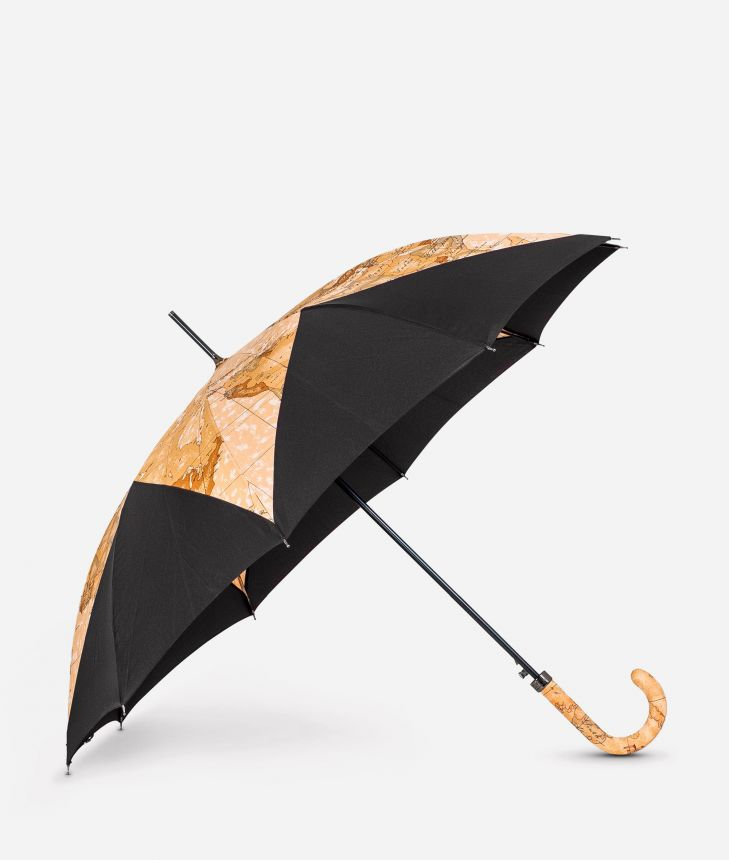 Automatic umbrella in black-Geo Classic fabric,front