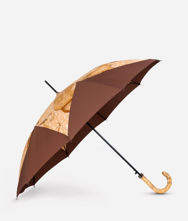Automatic umbrella in bicolour Geo Classic fabric,front