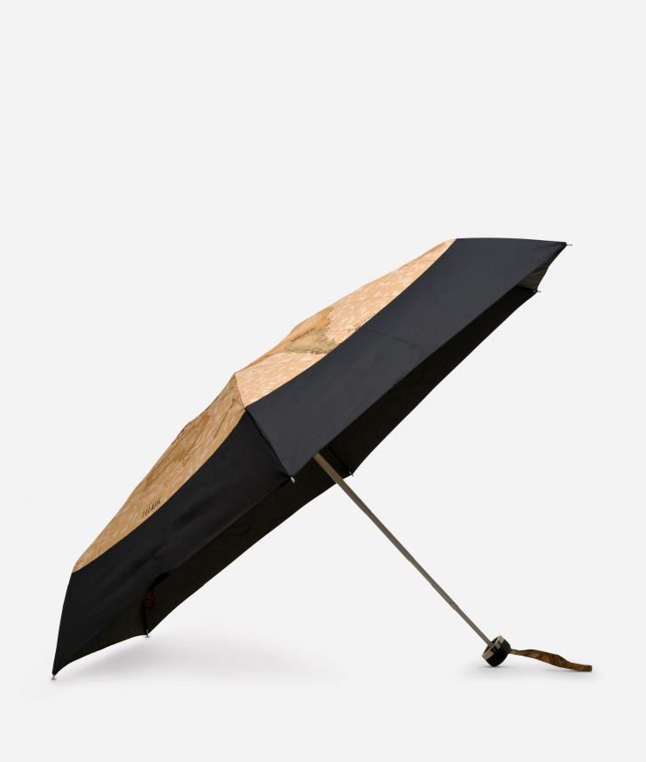 Mini umbrella in black-Geo Classic fabric,front